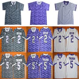 Wholesale American Football College Jerseys - TCU Horned Frogs Mens Football Jerseys American College 5 LaDainian Tomlinson Men For Sport Jersey Size S-XXL