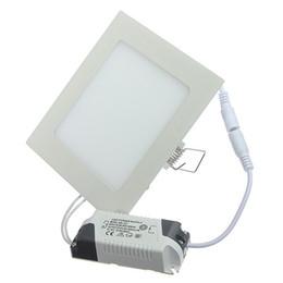 Argentina 3W 4W 6W 9W 12w 15w 25w Blanco frío / blanco cálido LED Lámpara de techo LED Downlights de panel cuadrado Bombilla Suministro