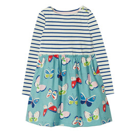 Wholesale dress winter autumn girl - Princess Dress for Kids Christmas Dress Unicorn Dog Appliqued Children Party Dress for Baby Girl Clothes Long Sleeve Clothes