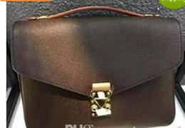 Argentina 2018 de alta calidad de cuero marrón genuino bolso de mensajero del bolso de las mujeres pochette Metis bolsas de hombro crossbody bolsas de mensajero supplier brown messenger bags for women Suministro
