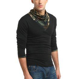 nuovo colletto della camicia di modello Sconti 2017 nuovi modelli in autunno in realtà sparare camicetta moda uomo Slim camicia a maniche lunghe T-shirt 7416