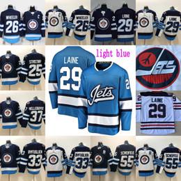 chandails de hockey de winnipeg Promotion Winnipeg Jets 29 Patrik Laine Jersey Hommes 26 Blake Wheeler 33 Dustin Byfu Glien 55 Mark Scheifele Hodkey Maillots 2016 Heritage Classic