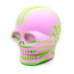 Новый дизайн фабрики онлайн-Фабрика новый 500 мл большой череп дизайн антипригарным банки Dab Силиконовый контейнер для воска Vape хранения масла пищевой силикона хранения jar