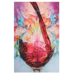 Pintura abstrata do vinho on-line-Grande Abstrato Giclee Vidro De Vinho Tinto Pintado À Mão / HD Impressão Moderna Da Arte Da Parede Decoração Pintura A Óleo Sobre Tela. Vários tamanhos / frame Opções Ab257