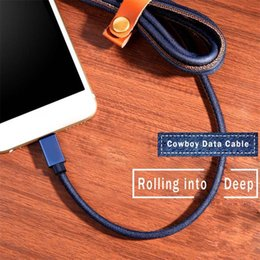 Микро оплетки продажа онлайн-2018 Hot Sale 3ft 5ft 6ft Durable Cowboy Braided Data Cable Micro USB Fast Charging for V8 Type C with Retail Packing DHL Free Shipping