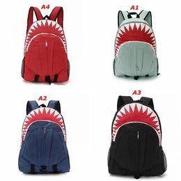 Wholesale two cute boys - Wholesale-Children's Shark mouth backpacks Cute 3D Shark Mouth Women Backpack ,School Kid Boy Girl Outdoor Bag School Mens Travel Backpacks