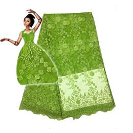 Argentina 5 yardas / lote última tela africana del cordón del cordón francés nigeriano del último diseño para el vestido de fiesta Fc1601 -11t Suministro