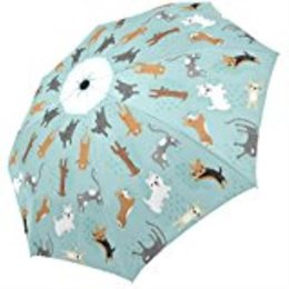 Wholesale aluminium cats - Raining Cats and Dogs Custom Printing Foldable Sun Rain Folding Umbrella 100% Fabric Aluminium High-Quality Foldable Umbrella