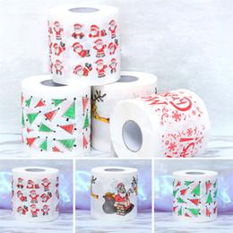 2019 decorazioni di rotoli di carta Nuovo modello di Natale Tovagliolo di carta igienica Moda divertente Humor Gag Xmas Decoration Gifts Wholesale 6 style sconti decorazioni di rotoli di carta