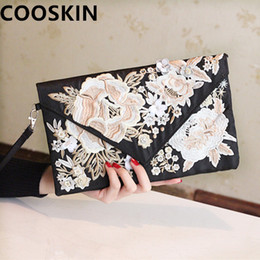 Wholesale Embroidered Cheongsam - Wholesale- women's handbag embroidered elegant day clutch bag evening cheongsam banquet bag clutch