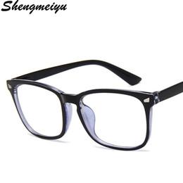 Óculos azul moldura para os homens on-line-Limpar Quadro de Vidro Da Lente Anti Raio Azul Óculos de Surf Óculos de Proteção Dos Homens Simples Óculos de Estudante Das Mulheres Dos Homens Eyewear