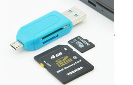 Универсальная мобильная сим-карта онлайн-Micro + USB OTG Card Reader универсальный кард-ридер мобильный телефон PC card reader OTG TF SD флэш-памяти Оптовая