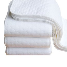 Wholesale baby breathing - New 2pcs Infant White Ecological Cotton Baby Cloth Diaper Washable Nappy Soft and Breathe 3 layers of microfiber lowest price