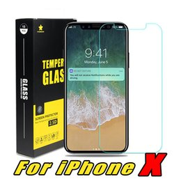 Wholesale glass top protector - For Iphone 8 Plus iPhone X 7 Plus Top Quality Best Price Tempered Glass Screen Protector 0.2MM 2.5D with Reatail Package