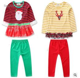 fdbfe4daf1807 пижамы для младенца санта-клауса Скидка Рождество пижамы дети пижамы наборы  Осень Зима хлопок с