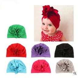 Flores sombreros indios otoño invierno florales gorras babys sombreros  recién nacido diadema niños más nuevo sombrero diez colores 169 3d8db034fda