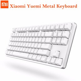 Wholesale Wired Backlit Keyboard - Original Xiaomi Yuemi Metal Keyboard MK01 Wired Mechanical Keyboard Backlight Gaming LED Backlit Anti-Ghost for Gamer Computer