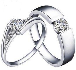 Wholesale Diamond Halo - 925 Sterling Silver Rings CZ HALO DIAMOND ENGAGEMENT RING & WEDDING BAND SET G-H EGL USA WHITE K GOLD PLATED