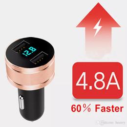 2018 новое обновление универсальное автомобильное зарядное устройство 2 порта USB цифровой дисплей блеск интеллектуальный автомобиль мобильный телефон быстрое зарядное устройство люминесценция 10 шт. EMS от