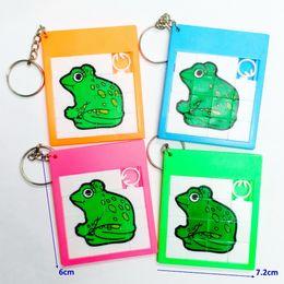 Rana della catena chiave online-100X Frog Slider Puzzle con portachiavi scorrevole 389-2 Bomboniere Regalo di vendita Pinata Filler Bottino Bomboniere Regalo Giocattoli Borse Novità