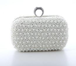 Fait à la main belle ivoire perlée sac à main de mariée sac de mariage perle dans les sacs à main des femmes banquet soirée parti sac pochette ? partir de fabricateur