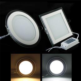 3 vidrio de cambio de color LED SMD panel luz LED Techo Empotrado Luz AC85-265V LED Downlight SMD 6W 9W 12W 18W Iluminación para el hogar 1pcs desde fabricantes