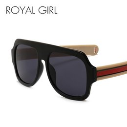 ROYAL GIRL Oversize Square Sunglasses Mujeres 2018 Fashion Flat Top Sun Glasses Men Diseñador de la marca Big Frame UV400 SS767 desde fabricantes