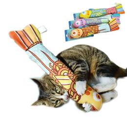 Giocattoli di interazione online-Giocattoli fantasia per gatti interattivi simulazione pesce farcito giocattolo catnip pet gatti cuscino cuscino per dormire interazione gatto forniture gadget