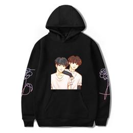 Wholesale Red Stay - BTS K-pop LOVE YOURSELF Bangtan Boys Stay Picture JIMIN V Hoodies Sweatshirts Women Sweatshirt Hip-hop Popular Idol Clothes
