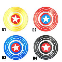Canada Fidget Spinners Captain America Spinner à la main en alliage de zinc EDC Autism ADHD Finger Gyro Toy Cadeaux pour adultes spin 4 minutes dans une boîte en métal cheap toy tins Offre