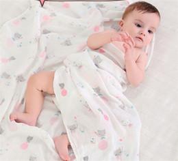 Wholesale Floral Bath Towels - 36styles Baby Kids Blanket Kids Swaddles Ins Wraps Blankets Nursery Bedding Newborn Organic Cotton Swadding Bath Towels BHB45