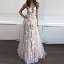 Wholesale Sheer Lace Panel Dress - sexy lace gauze deep v sleeveless maxi party dress women plus size summer spring autumn new prom club runway pleated ball gown dress