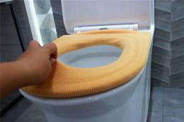 Couvre-siège de toilette en Ligne-Couvre-siège de toilette chaud Accessoires de salle de bain Tapis de toilette Couverture Simple Tricot Ligne Changeable Coussin De Toilette Lavable Livraison Gratuite