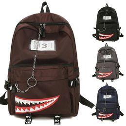 5ffd0139c32 2019 mochila adolescente de dibujos animados Mochila de dibujos animados  Mochila de boca de tiburón Niños