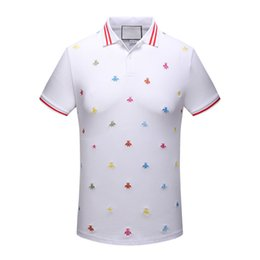 Wholesale Mens Tee Shirts Funny - Mens Embroidery Short Sleeve High Quality Men T-Shirt Tees Mens Polo Shirt Funny Casual Slim Tops Tees