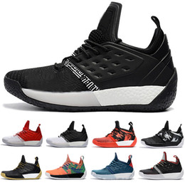Wholesale newest christmas - 2018 Newest james harden 2 vol Men's Basketball Shoes High Quality Trainer Sport Sneaker size 40-46