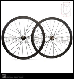 Wholesale road wheelset disc - 700C disc Toray T700 full carbon road bike disc Clincher wheelset with Thru Axle 6 Bolt carbon Asymmetric bicycle wheels