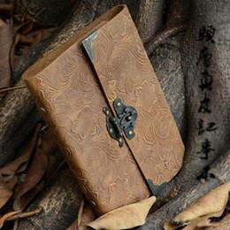 Toptan-Otantik dana ciltli kitap günlüğü şifre ile şifre notepad hakiki deri Avrupa retro dizüstü ücretsiz kargo nereden ücretsiz deri günlüğü tedarikçiler
