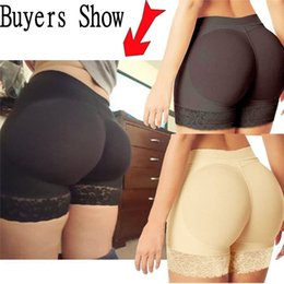 Wholesale Padded Shapewear Hips - Fashion Lady Buttock Pads Underwear Bum Women Butt Lift Hip up Enhancer Brief Shapewear Body Shaper