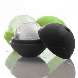 Wholesale bar cream - Silicone Soccer Ice Ball Mold 2018 FIFA Russia World Cup Football Ices Cube Tray Safe Colorful Bar Tools 3 24we CB