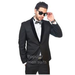 мужские угольные галстуки Скидка Charcoal Shawl Lapel Mens Tuxedos Wedding/Business Custom Made One Button Slim Fit 3 Pieces Groom Suits( jacket+Pants+tie)