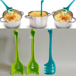 Wholesale long handled plastic spoons - Creative Loch Nessie Monster Noodles Spoon Plastic Long Handle Eating Noodle Helper Spoons Cooking Tools Kitchen Accessories WX9-465