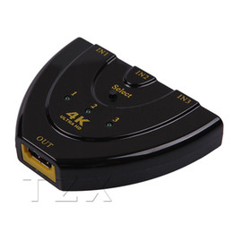 Wholesale Hdmi Auto - Hot Sale 4K X 2K MINI HDMI Splitter 3 Port Hub Box Auto Switch 3 In 1 Out Switcher 3D 1080p HD V1.4 For HDTV