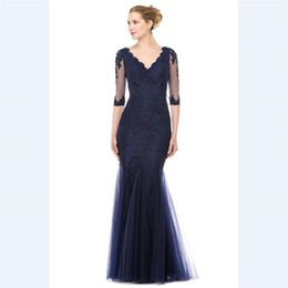 281d6392 lace sequin bead mother bride gown Coupons - 2018 Elegant Blue Tulle  Mermaid Mother's Dresses Custom