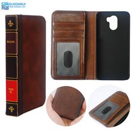 Canada Etui à Rabat en Cuir pour Wileyfox Swift 2X Portefeuille Rétro Bible Vintage Book Business Pouch Offre