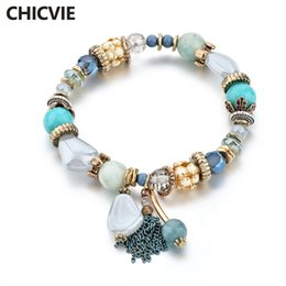 Wholesale Bead Sellers - CHICVIE Green Tassel Best Sellers Custom DIY Bracelets & Bangles For Women Beads Charm Crystal Bracelet Dropshipping SBR170045