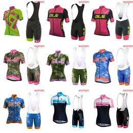 Wholesale Woman Vest Xs Grey - ALE Woman High-Quality Cycling jersey Sleeveless Vest Maillot Ciclismo Breathable Bicycle Clothing Sportwear bib shorts sets C1205