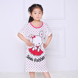 Wholesale Princess Pyjamas - Girl Kids Pyjama Nightie Dress Cartoon Sleep Wear Print Nightgown Pajama Nightie Cute Princess Dress 100% Cotton 2017 Hot Sale