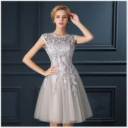 Wholesale Apricot Lace Dress - Baby pink, red, apricot, grey round bow tie, sleeveless ruffled skirt, skirt suit, skirt, cocktail dress, ball gown.