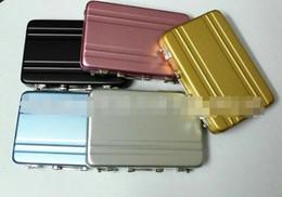 2019 porta maleta Senha Titular do Cartão de Crédito de Alumínio Mini Pasta Maleta Cartão de Visita Caso 5 cores Caixa De Armazenamento Caixa De Metal Útil Ferramentas LOGOTIPO Personalizado porta maleta barato